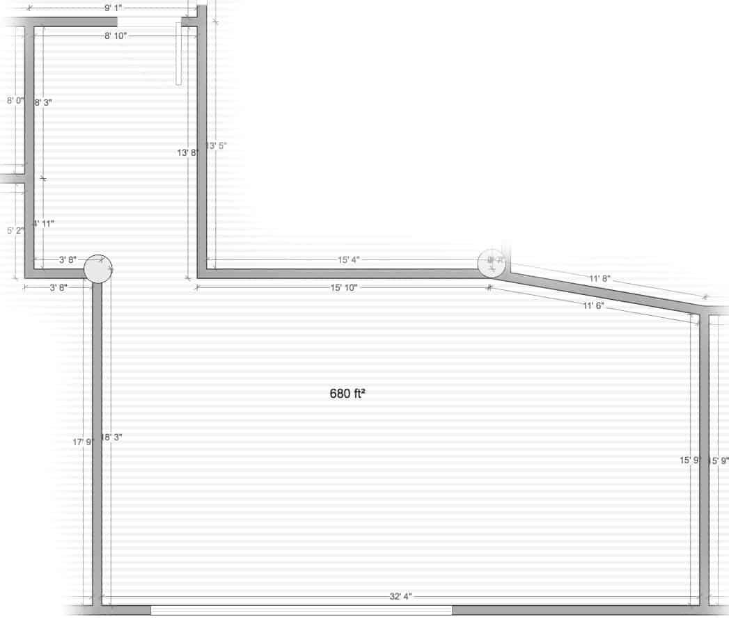 Studio 6 floor plan