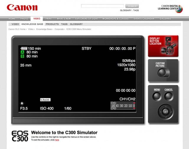 http://www.filmanddigitaltimes.com/wp-content/uploads/2012/06/Canon-C300-Simulator.jpg