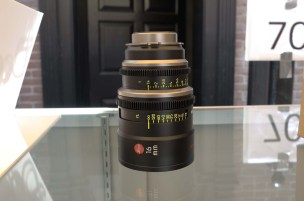 New Leica Summilux-C 16 mm lens prototype. Expected at IBC, along with 135, 29, and 65 mm