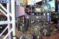 Two RED Epics, Angenieux lightweight DP Zooms on Marty Mueller's Converging Concepts 3D Rig at Radiant Images' booth