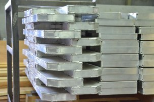 The dollies begin with billets of aluminum