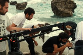 Artistic Director Vincenzo Condorelli (AIC) with the crew on the shoot