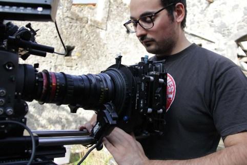 Student Cinematographer Antonio Paolucci (Centro Sperimentale di Cinematografia) on set