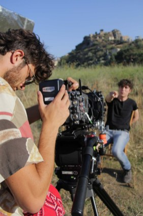 Student cinematographer Giuseppe Basile Rodriguez (Centro Sperimentale di Cinematografia) on set