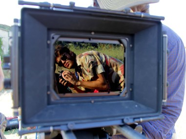 Student cinematographer Giuseppe Basile Rodriguez (Centro Sperimentale di Cinematografia) on set
