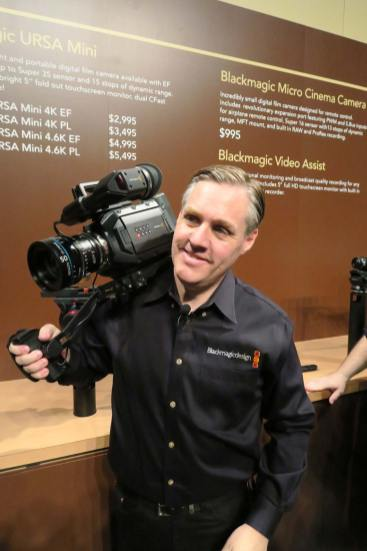 Grant Petty with new URSA Mini camera