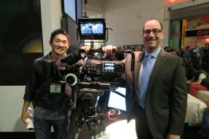 Panavision's Haluki Sadahiro and Panasonic's Steve Cooperman