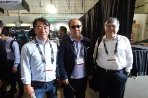 Sony VIPs: Kazuo Endo, Hiroshi Kiriyama, Fumihiko Suda