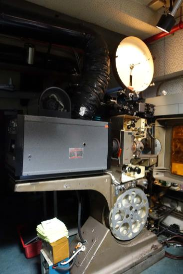 70mm projector of Sherry Lansing Theater