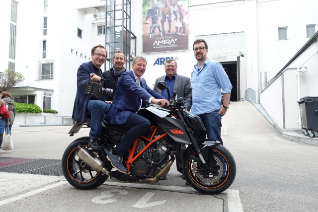 The Alexa Mini Wild Bunch: David Bermbach, Project Manager; Christian Hartl, Head of Camera Assembly; Walter Trauninger, Managing Director of ARRI Cine Technik; Martin Höcht, Head of Procurement; Michael Jonas, Product Manager.