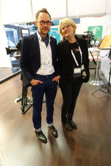 Angenieux's Dominique Rouchon and Edith Bertrand