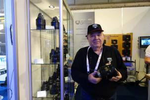 Andres Valles at the TLS booth with his new/old Baltars