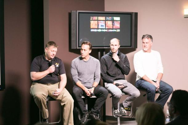 Panel: Exploring the Possibilities of Camera Movement (L to R) Derek Hammer, Faires Sekiya, Stephen McGee, Mark Woods.