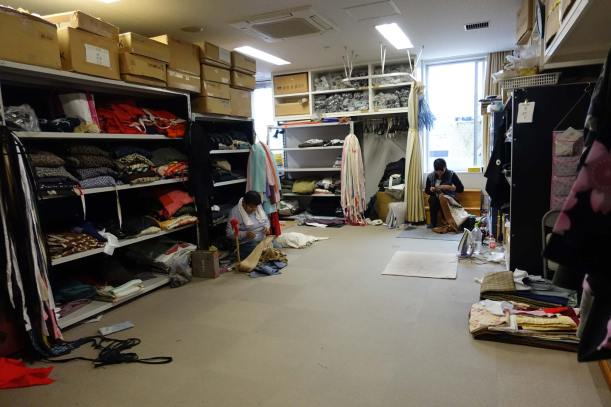 Wardrobe department at Shochiku