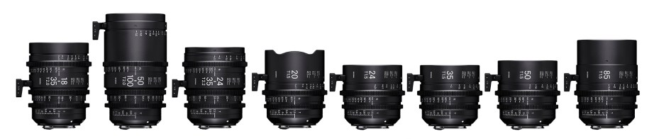 Sigma Cine Lens Group in order