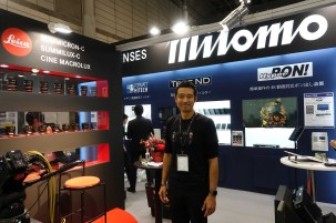 Osamu Tsukada at Mitomo booth, Leica distributor in Japan