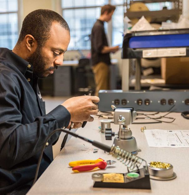 David Fauntleroy, Manufacturing Assistant, Engineering. Photo: Zohar Lindenbaum.