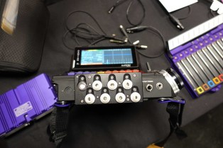 Protoype auxiliary mixing panel for Cantar Mini in shoulder-carry mode