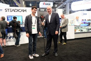 Andrew Tiffen and Steve Tiffen with new Steadicam Air