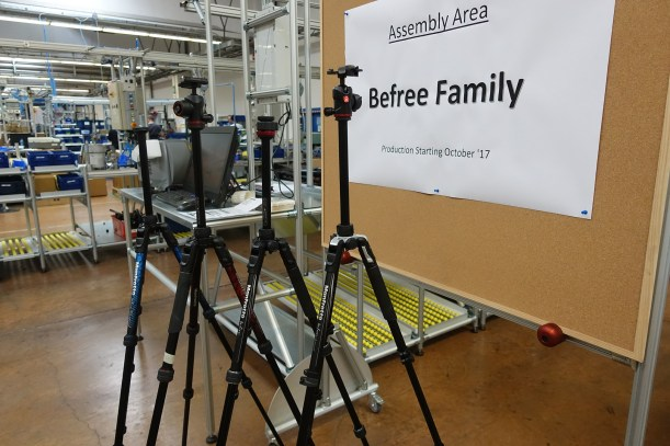 Manfrotto Befree Assembly Area went online October 2017.