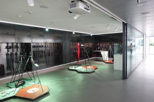 Showroom at Manfrotto Headquarters.