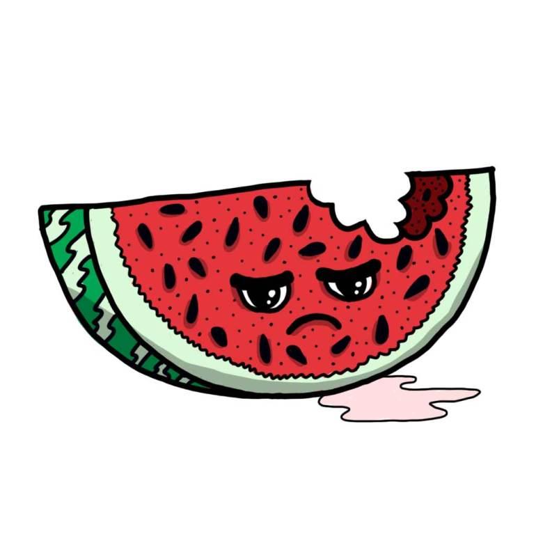 Food bite watermelon