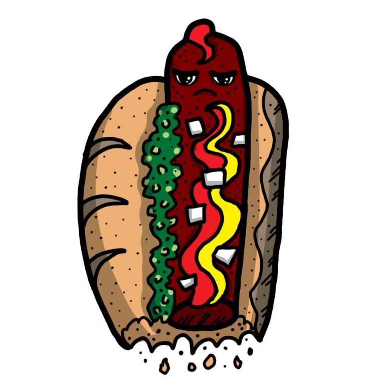 Food bite hotdog