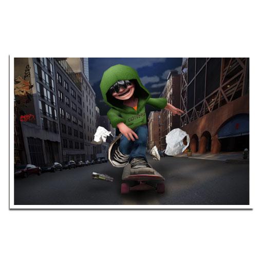 Jay D Skate Home: Game Story Illustration