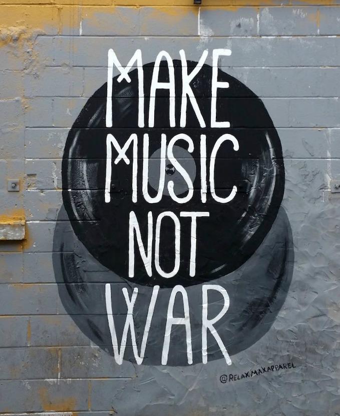 Make Music Not War Mural Nashville
