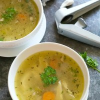 Grandma's Chicken Soup From Scratch
