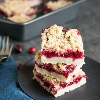 Easy Gluten Free Cranberry Shortbread Bars
