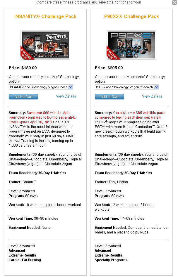 Compare Beachbody Workout Programs, Easily! - FearlessLeeFit com