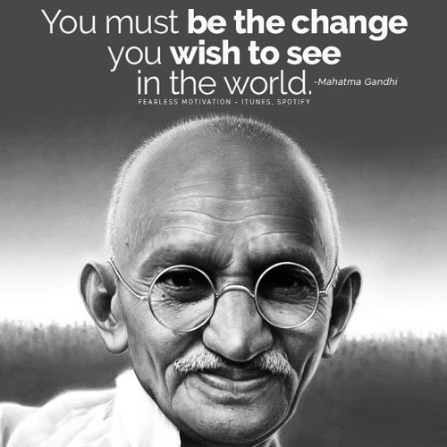 Image result for Gandhi quote peace cannot be maintained by