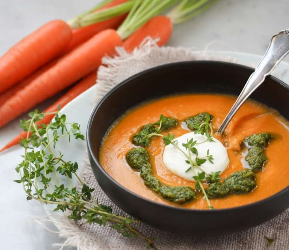 Carrot Soup with Chermoula