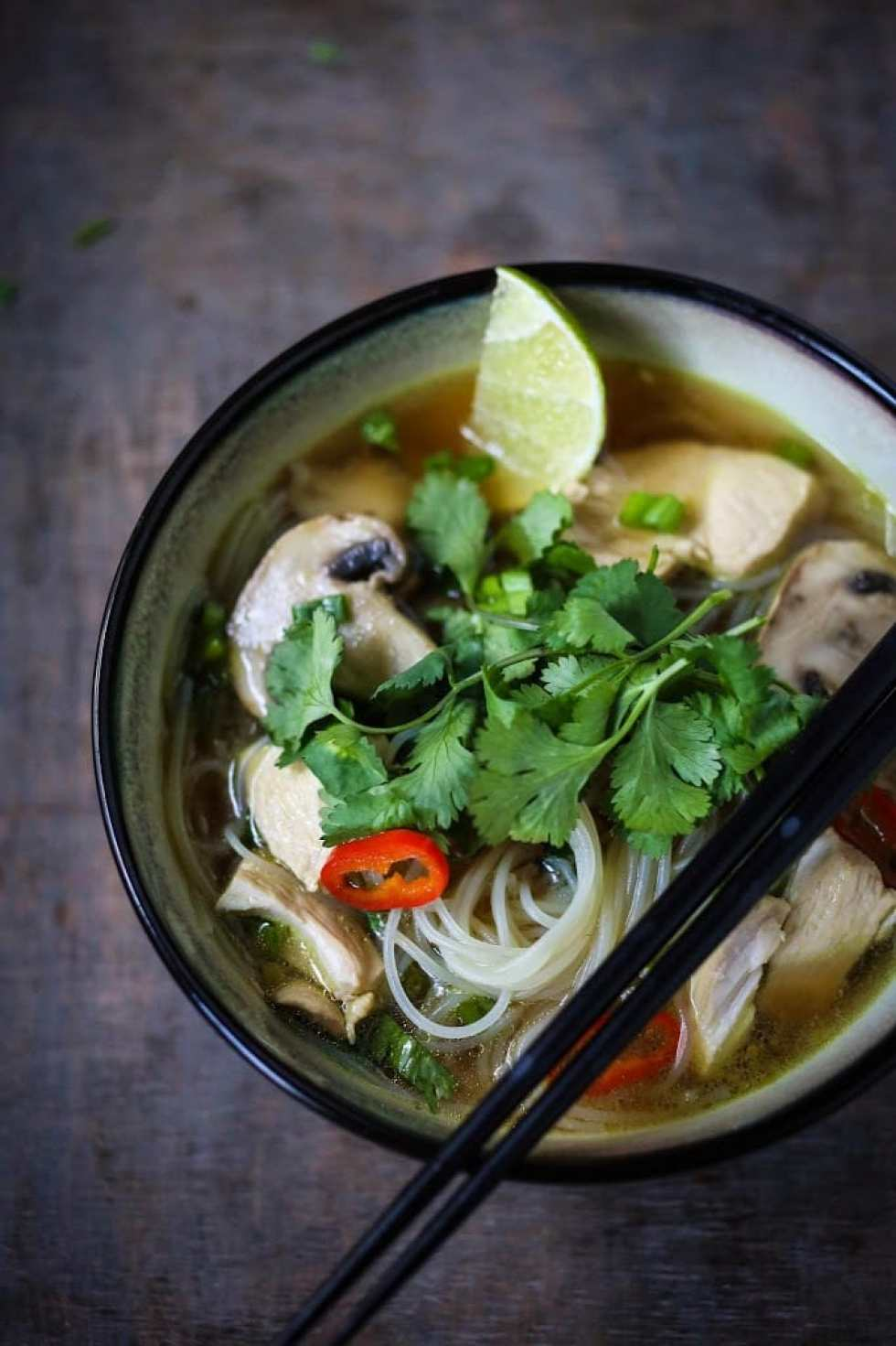 Thai Chicken Noodle Soup + Plus 10 Warming THAI RECIPES to help take the chill out of winter | www.feastingathome.com