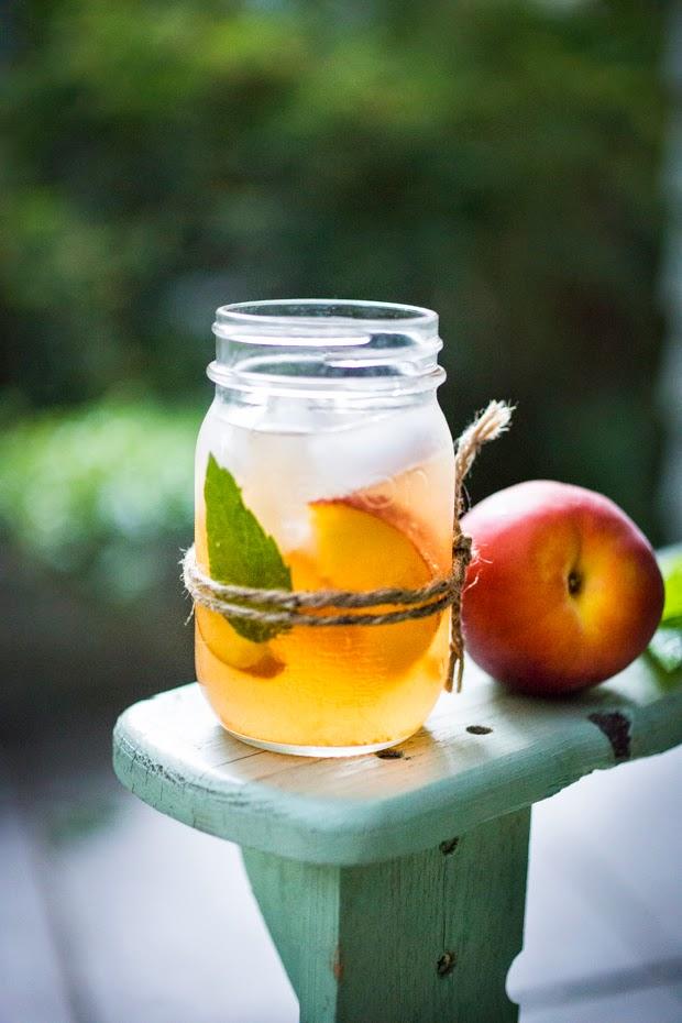 Peach Sangria with Elderflower
