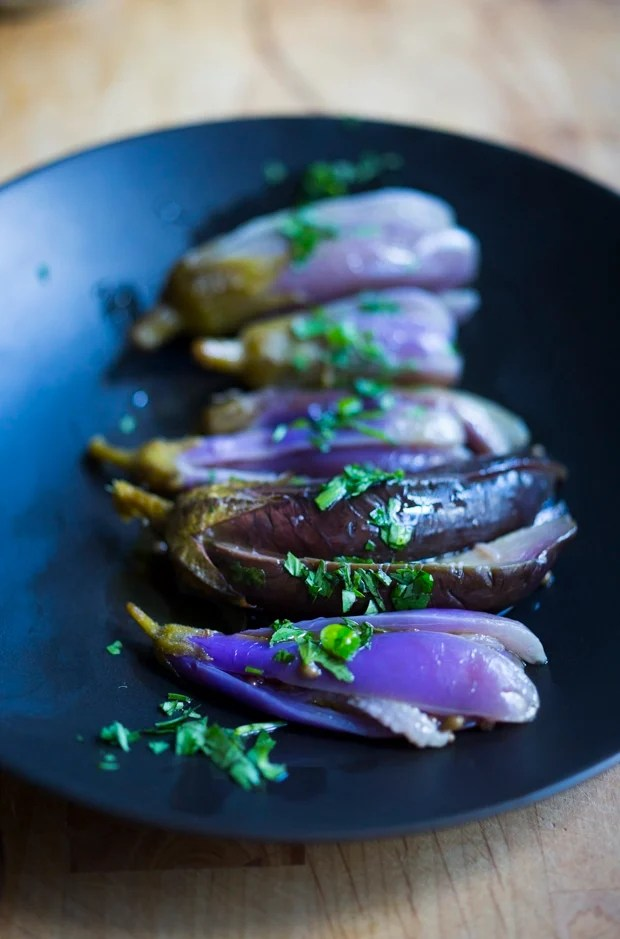 Moroccan Pickled Eggplant