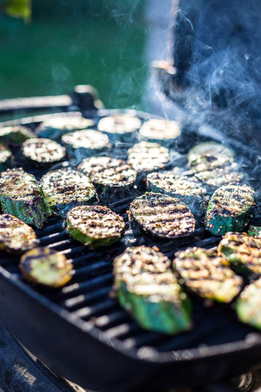 Grilled Zaatar Zucchini with labneh +  15 Delicious Grilling Recipes for Summer!  |www.feastingathome.com