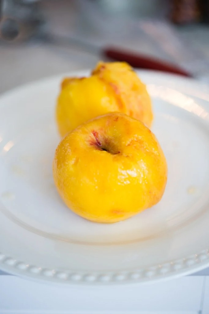 How to peel peaches quickly and easily!