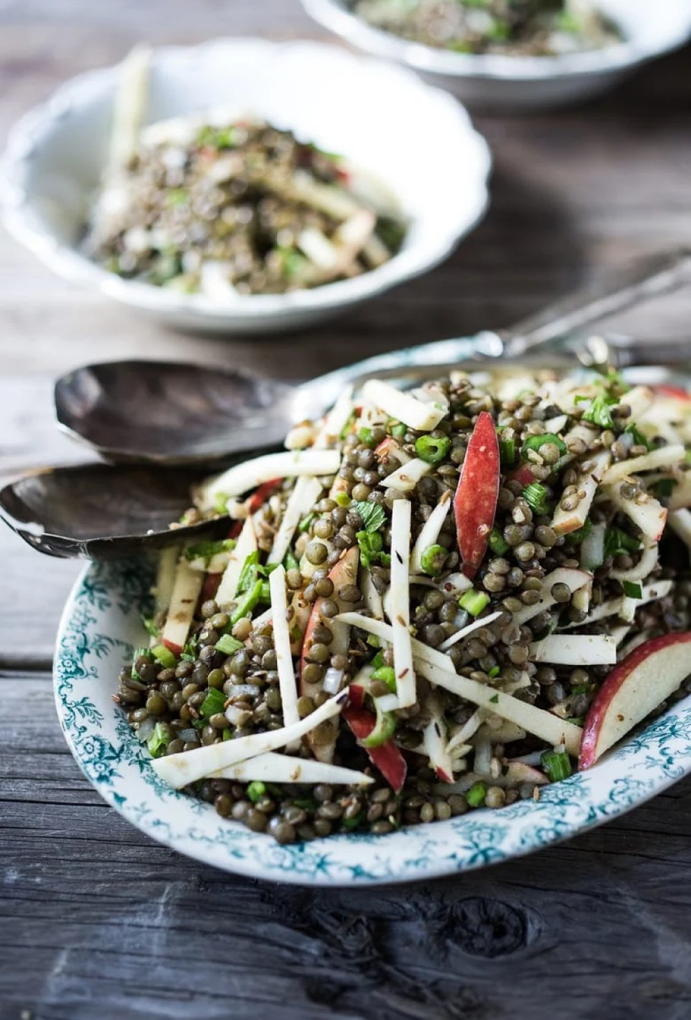 Fall lentil Salad with celery root, apple and a cumin seed dressing | feasting at home
