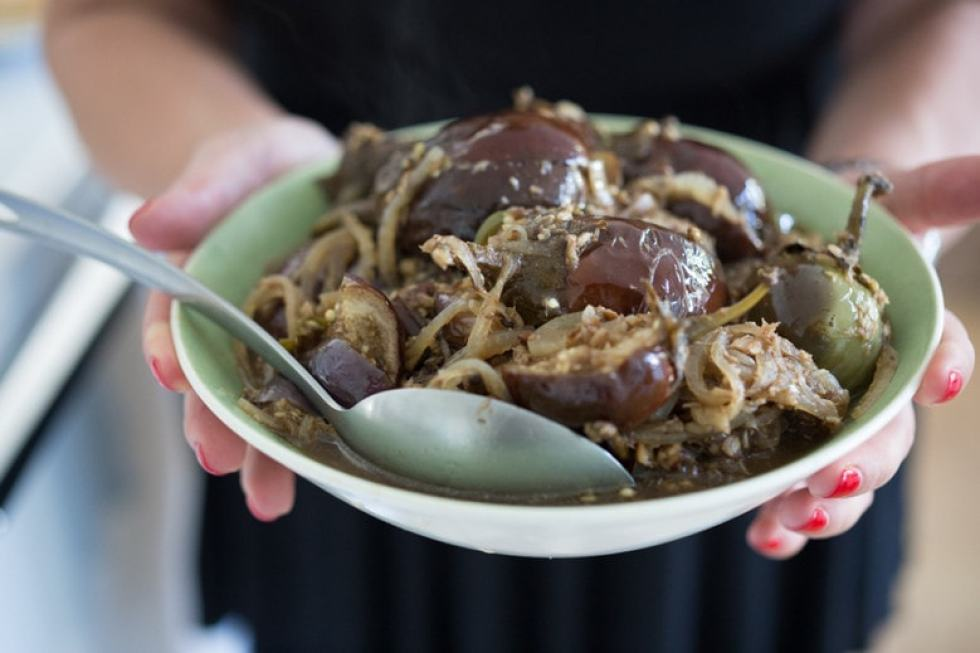 slow braised indian eggplant | feasting at home