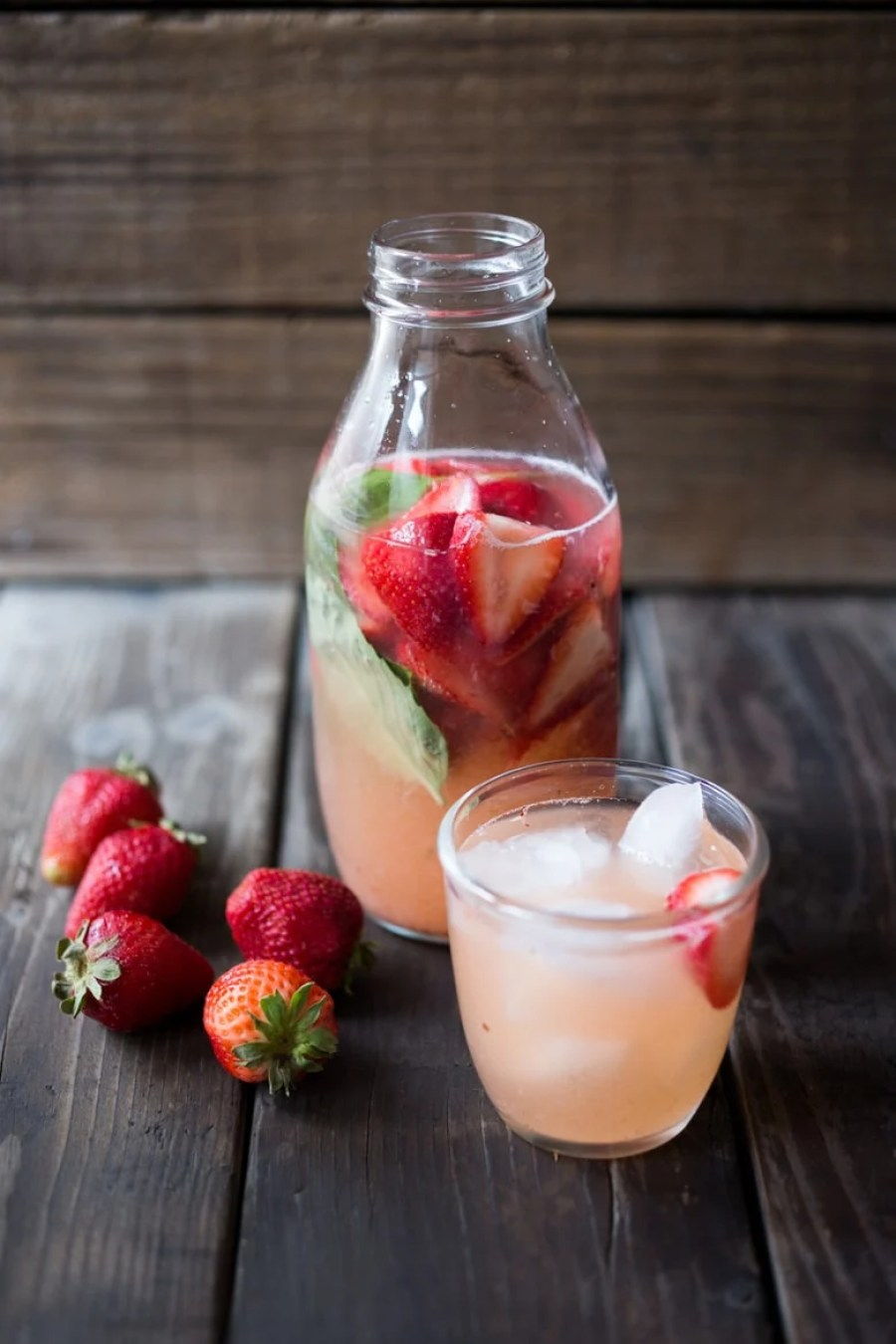 Strawberry Water Kefir, full of healthy probiotics, good for the gut, like Kombucha but BETTER and EASIER! A simple step by step guide | www.feastingathome.com