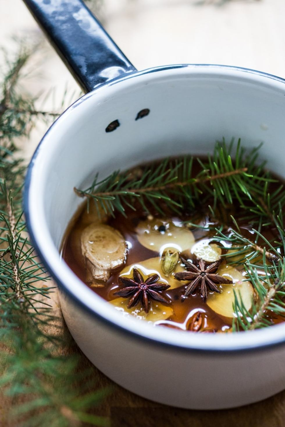 A Long Winter's Nap- Infused Maple syrup w/ ginger, star anise and lemon. A delicious cozy wintery drink! | www.feastingathome.com