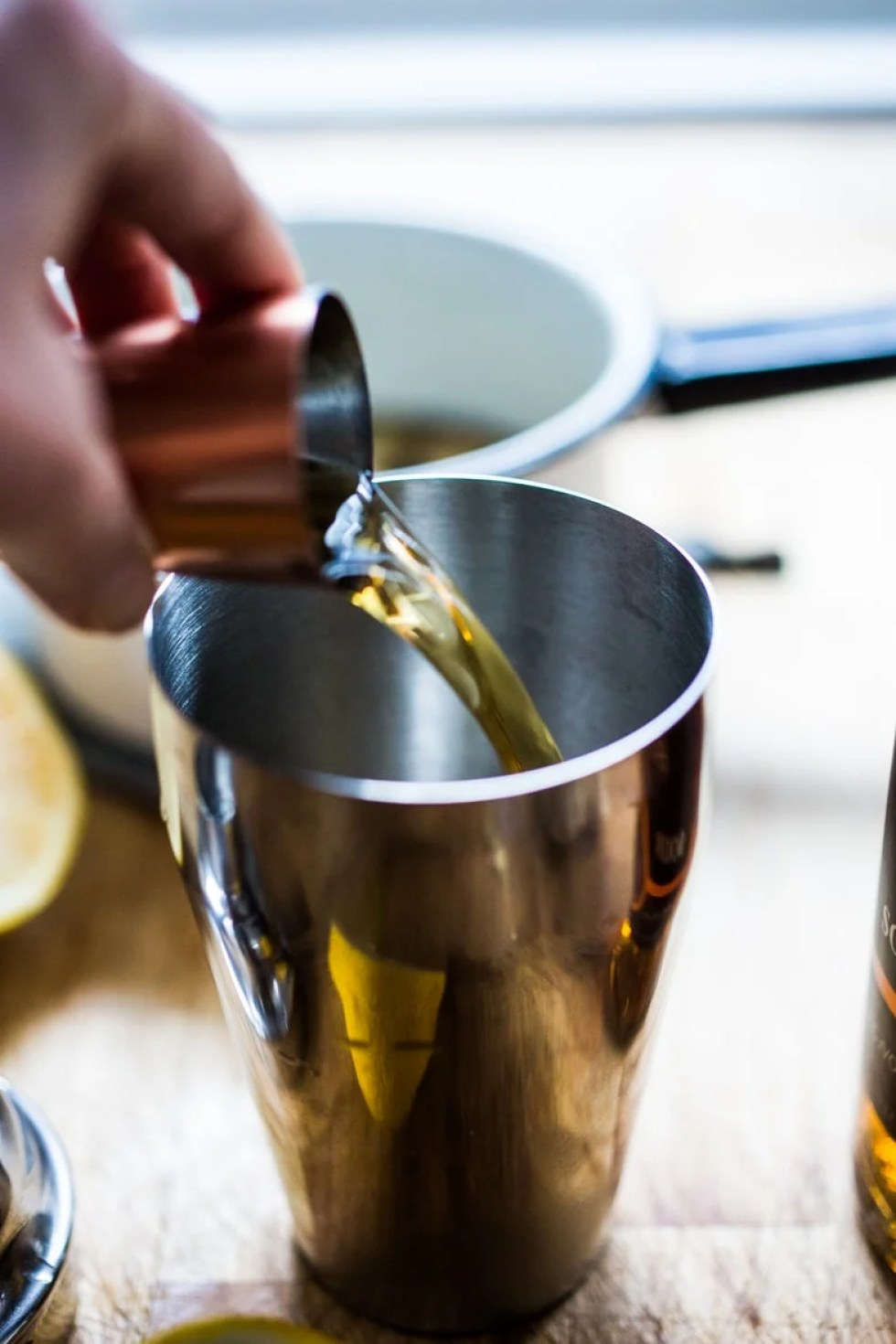 A Long Winter's Nap- Bourbon, Maple syrup, ginger, star anise and lemon. A delicious cozy wintery drink! | www.feastingathome.com
