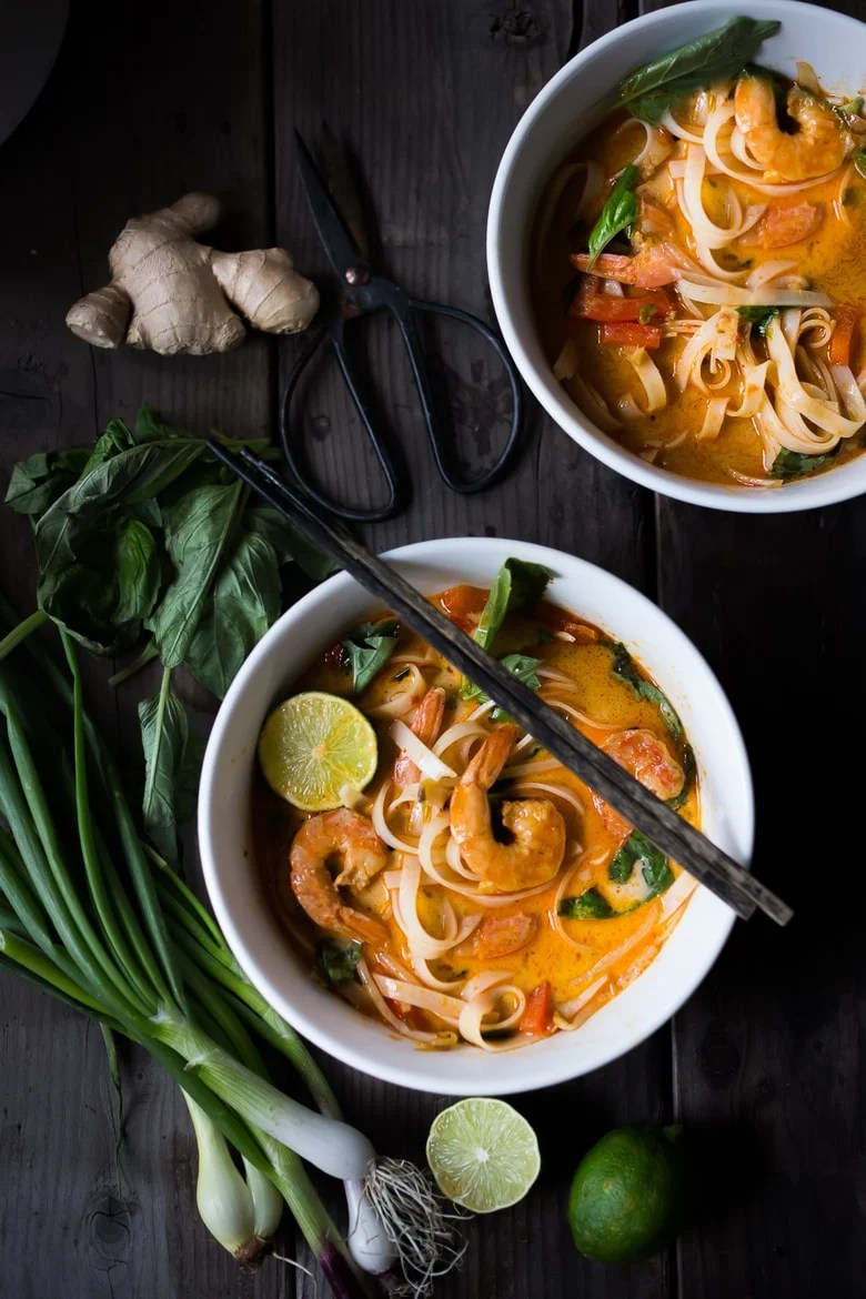 Thai Coconut Soup with Bean-Thread Noodles