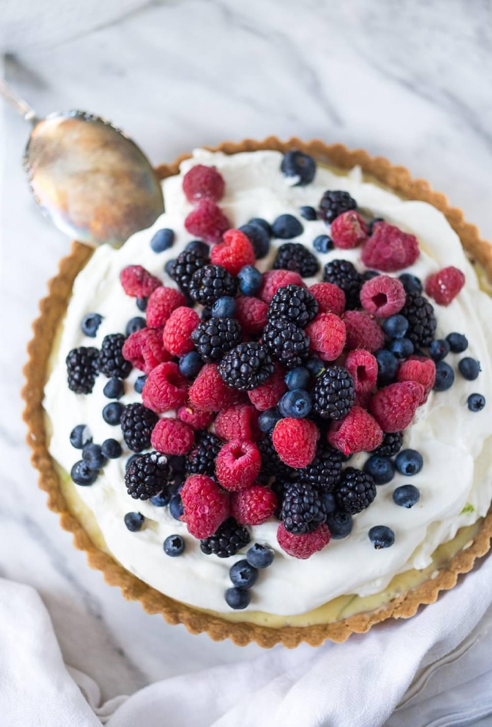 Summer Berry Tart with Shortbread Crust