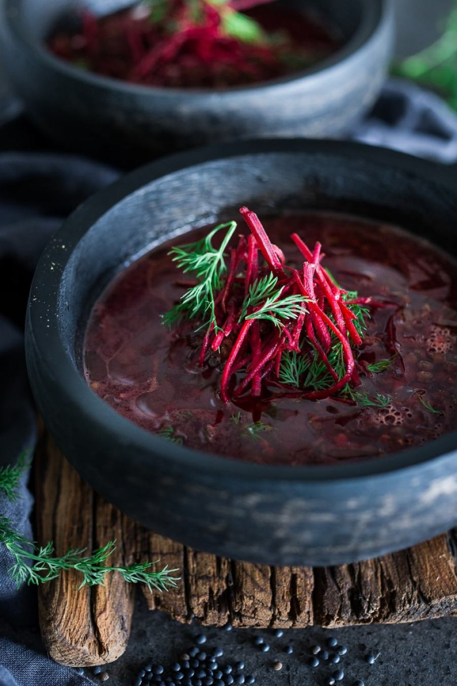 Detox Lentil and Beet Broth Soup...packed full of antioxidants that aid the liver in detoxing and cleansing our bodies. Vegan, GF | www.feastingathome.com