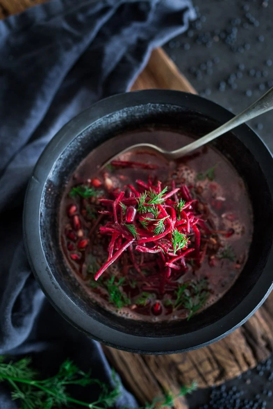Detox Lentil and Beet Broth Soup
