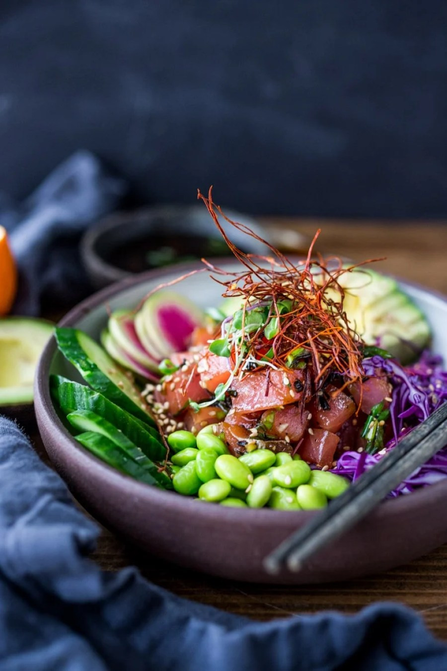 Ahi Poke Bowl (Vegan Adaptable!)