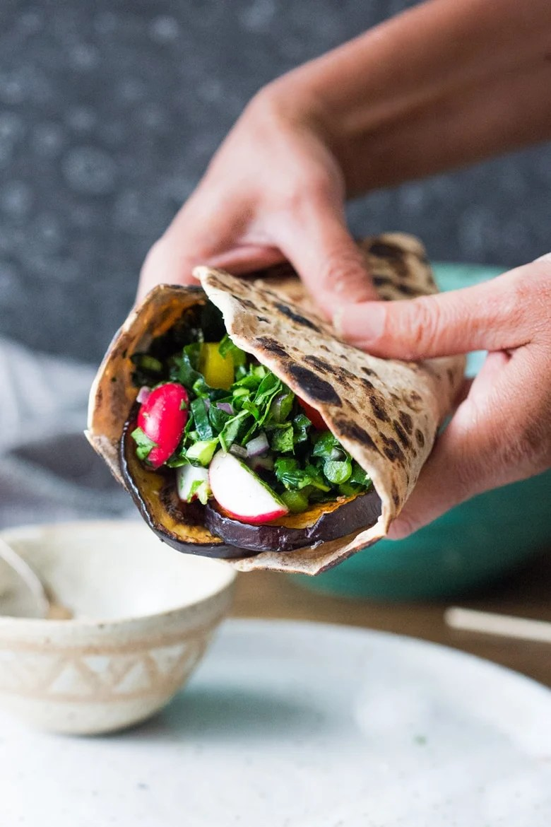 Middle Eastern Eggplant Wrap